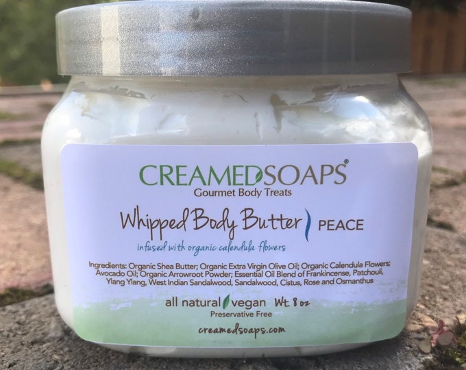 Featured listing image: Whipped Body Butter; Organic Shea Butter; Whipped Shea Butter (8oz/16oz Jar)