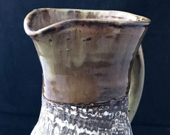 Agateware Ceramic Pitcher