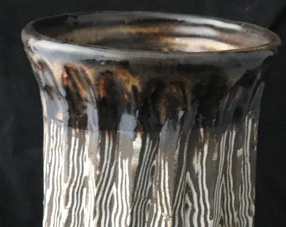 Agateware Ceramic Vase