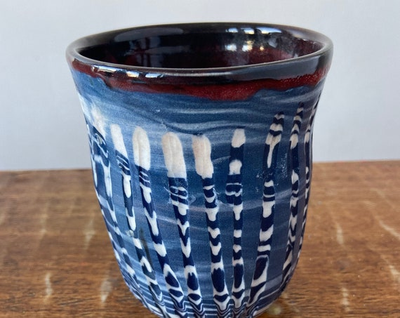 Agateware  Colored Porcelain Tumbler