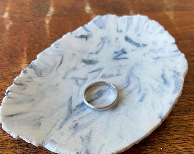 Small Agateware   Porcelain Plate