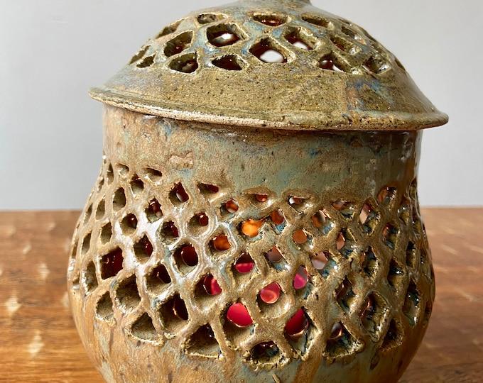 Ceramic Lantern Jar