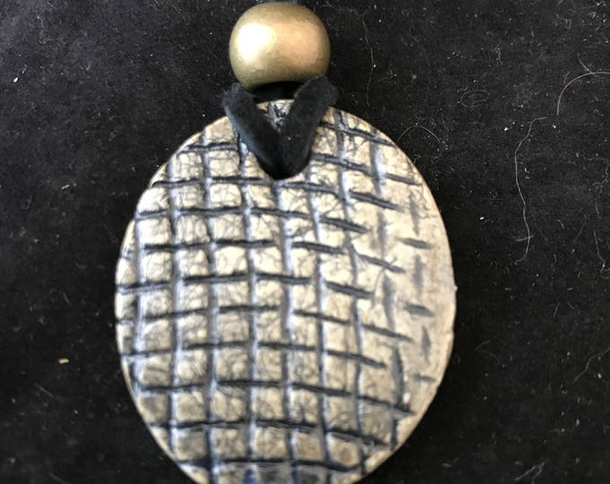 Ceramic Oval Pendant