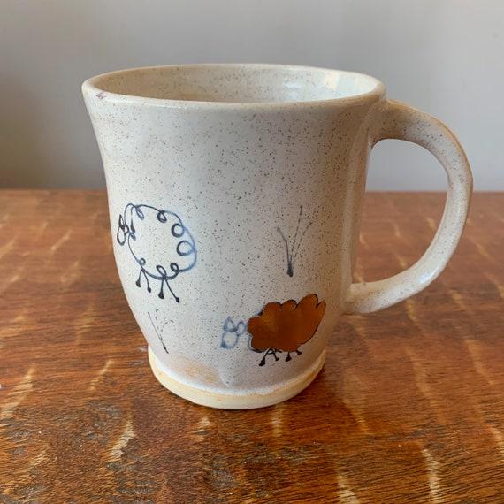 Gold Luster Ceramic Sheep Mug