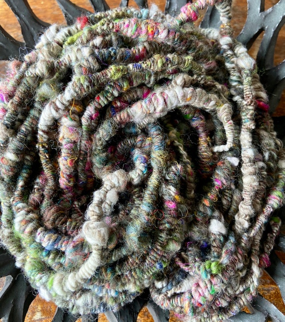 Handspun Spiral  Plyed Art Yarn