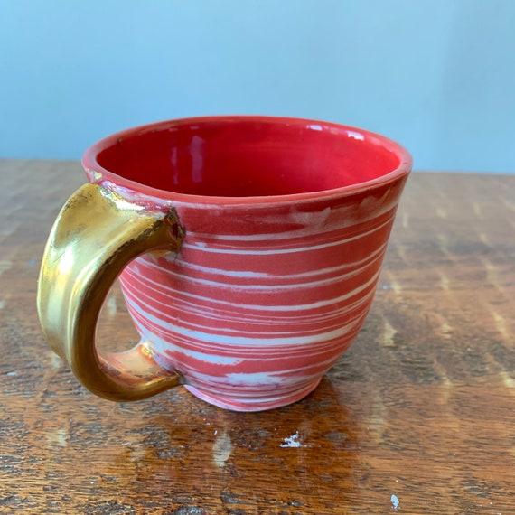 Swirled Colored Porcelain Mug