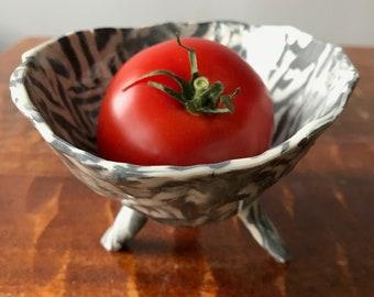 Grey and White Salsa Dish