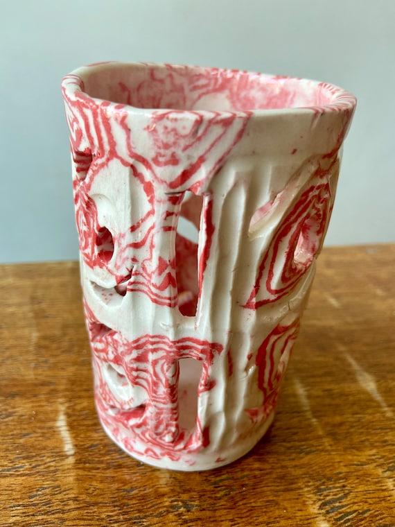 Carved, Nerikomi,  Porcelain Lantern