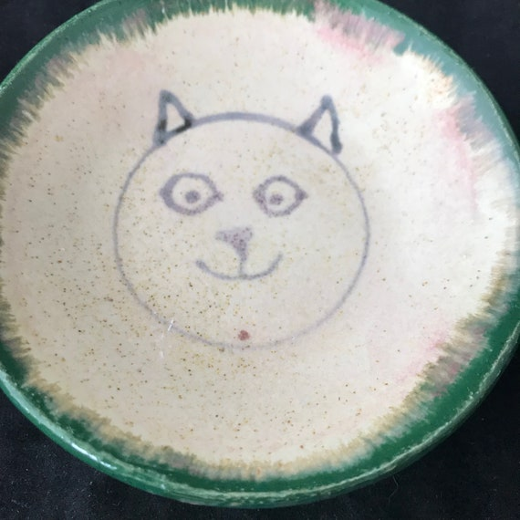 Small Happy Kitty Dish