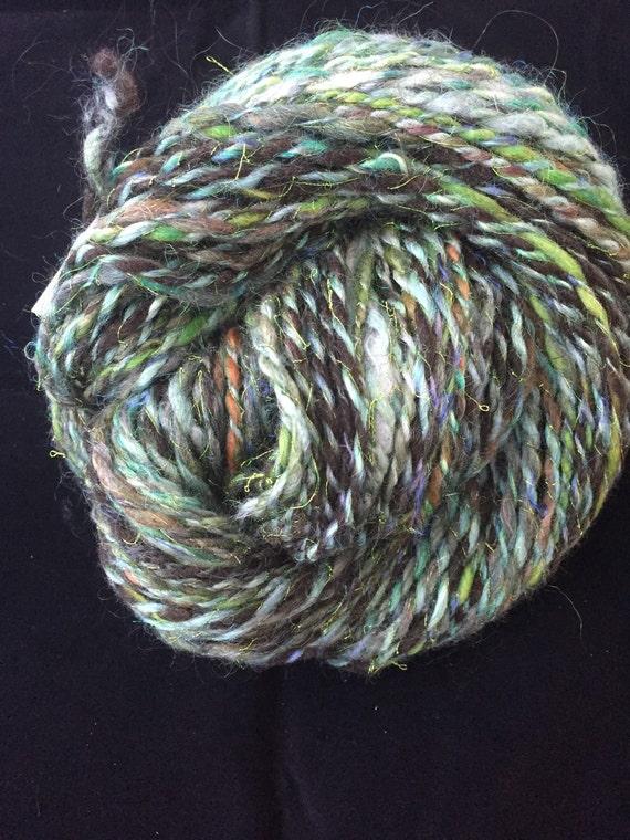 Handspun camo yarn