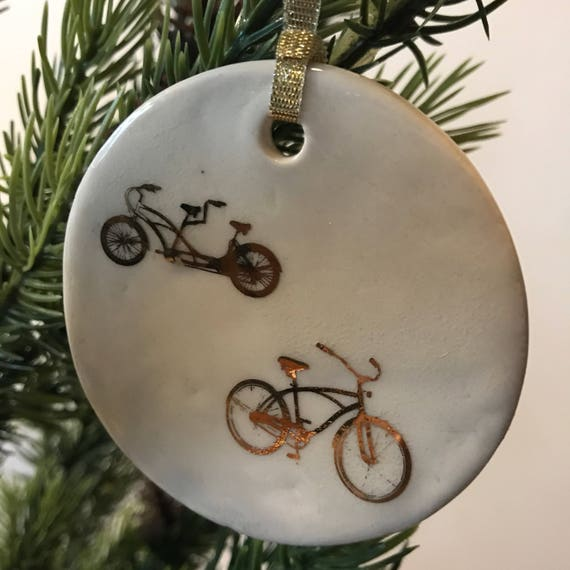 Bicycles  porcelain ornament