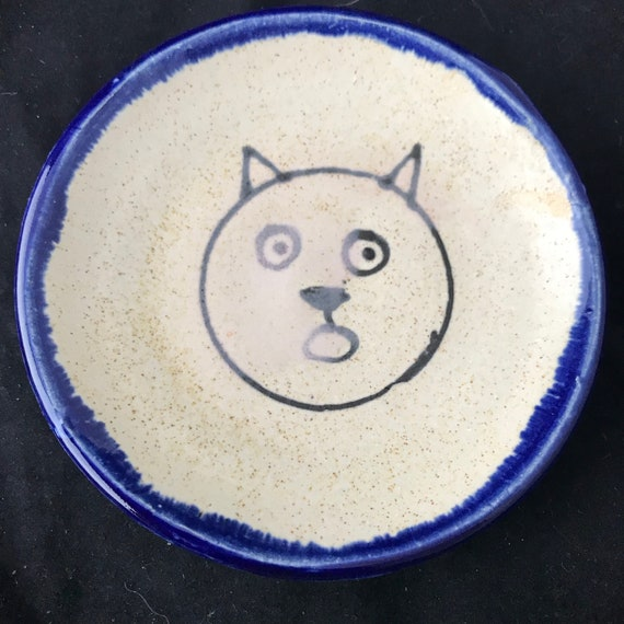 Small Surprised Kitty Dish