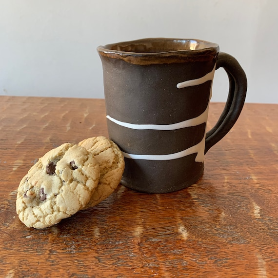 Dark Brown Stoneware Mug