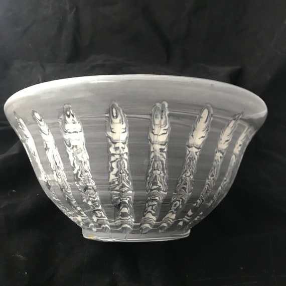 Grey Agateware Bowl