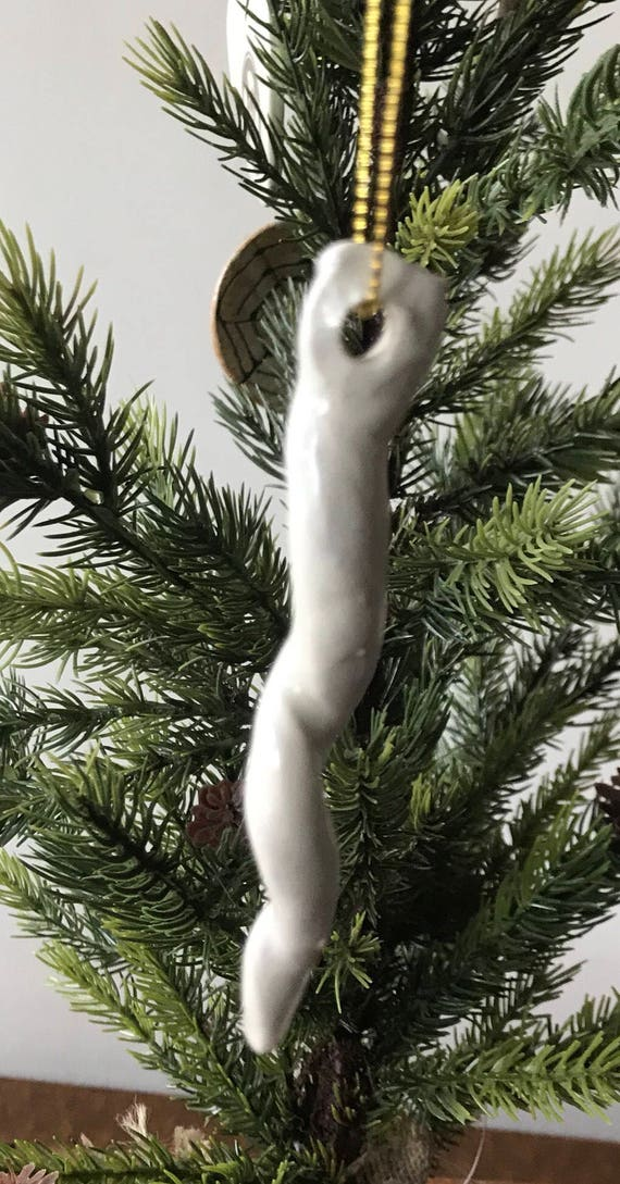 Porcelain icicle ornament