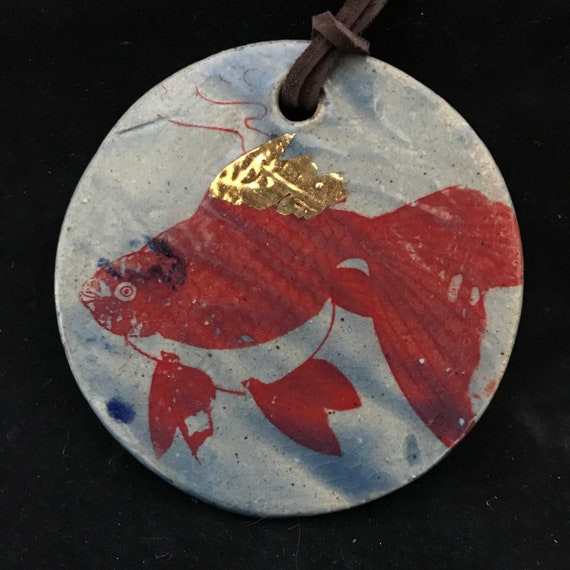 Fish Ornament with Gold Luster