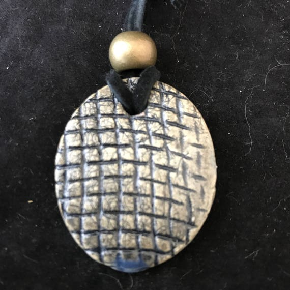 Ceramic Oval Pendant
