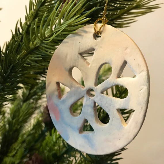 Cutout porcelain ornament