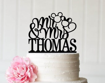 Mickey Wedding Cake Topper Happily Ever After Wedding Cake   Etsy