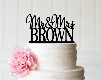 Personalized Wedding Cake Topper - Custom Mr and Mr Design