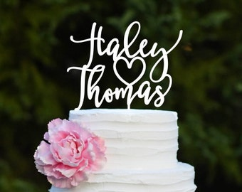 Wedding Cake Topper, Custom Wedding Cake Topper, Personalized Cake Topper for Wedding, First Names Wedding Cake Topper, Bridal Shower Topper