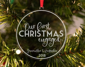 First christmas engaged ornament | Etsy