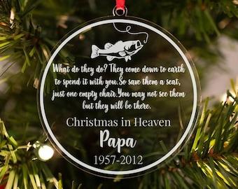Christmas in Heaven Ornament, Remembrance Ornament, Personalized Ornament, Sympathy Gift, In Loving Memory Ornament, Memorial Ornament