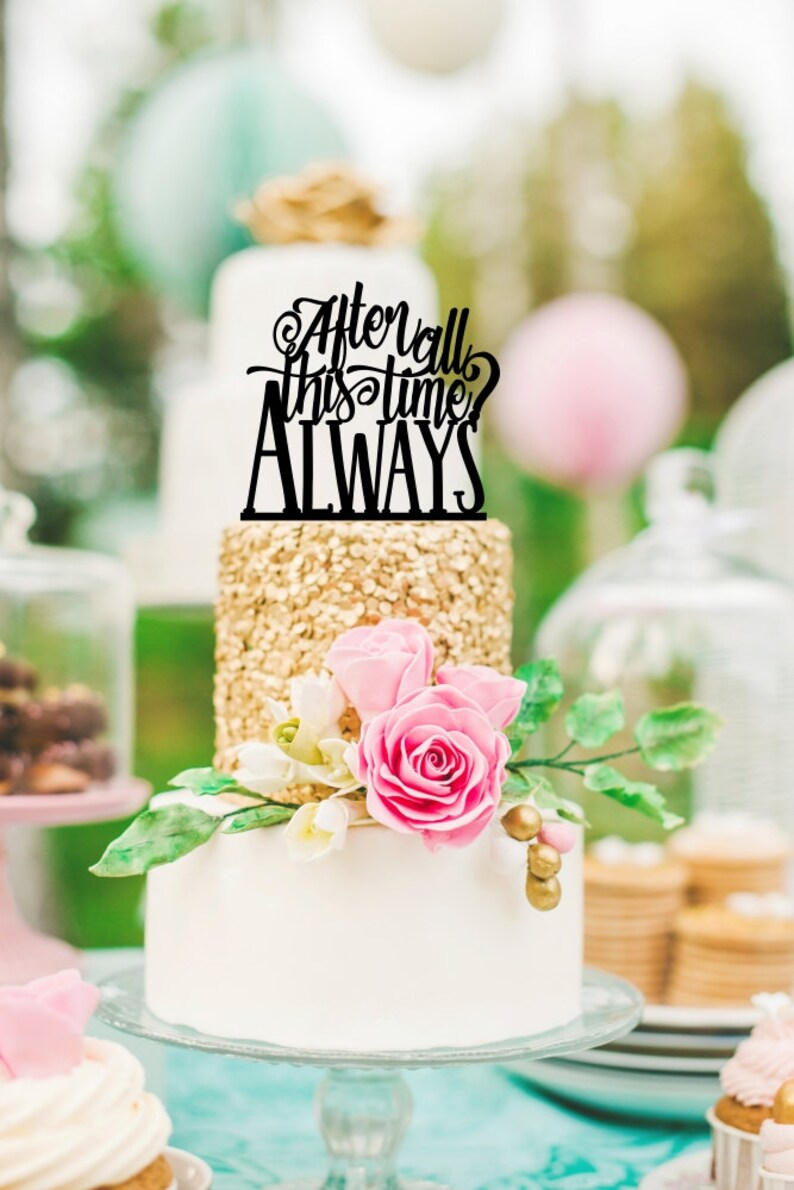 Harry Potter Wedding Cake Topper After All This Time Always Etsy