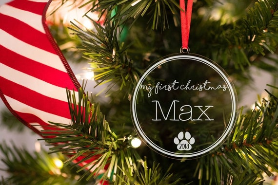 Dogs First Christmas Ornament.Dogs First Christmas Ornament Puppys First Christmas Ornament 1st Christmas Ornament Pet Ornament Christmas Gift For Dog Owner