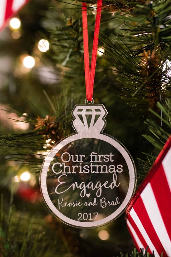 50 - Our First Christmas Engaged Ornament Personalized Etsy