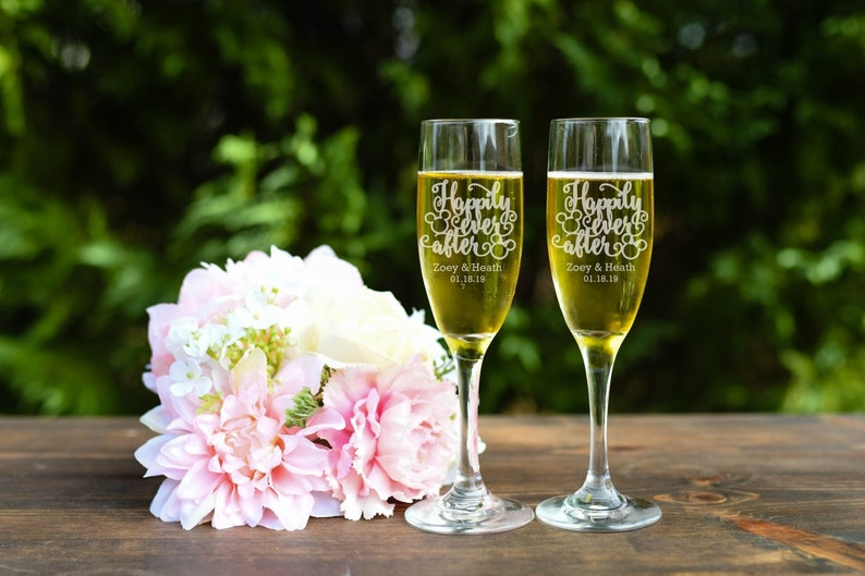 Mickey & Minnie Toasting Flutes Happily Ever After Toasting image 0
