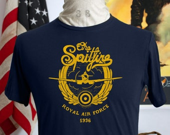 00da56f0 WWII, Vintage Style Spitfire, Royal Air Force t-shirt