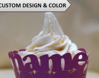 Custom Cupcake Wrappers, 12pcs