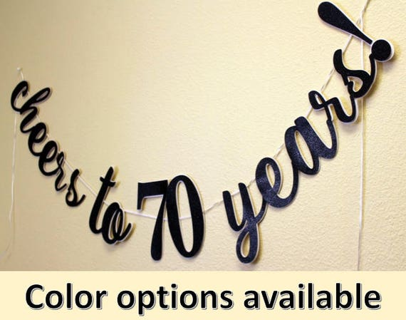 All About Details Cheers to 50 Years Cursive Banner Black /& Silver
