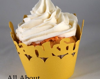 All About Details Thankful Cupcake Wrappers, Set of 12