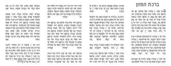 Fan image pertaining to birkat hamazon text printable