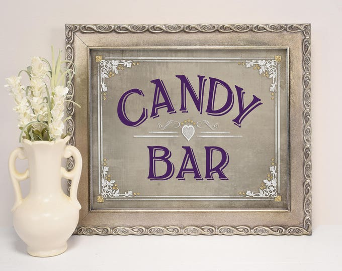 Candy Buffet Sign, Candy Bar Sign | PRINTABLE Wedding, Wedding Candy bar sign, Party Candy Sign, Old Lace Collection, Wedding Decorations
