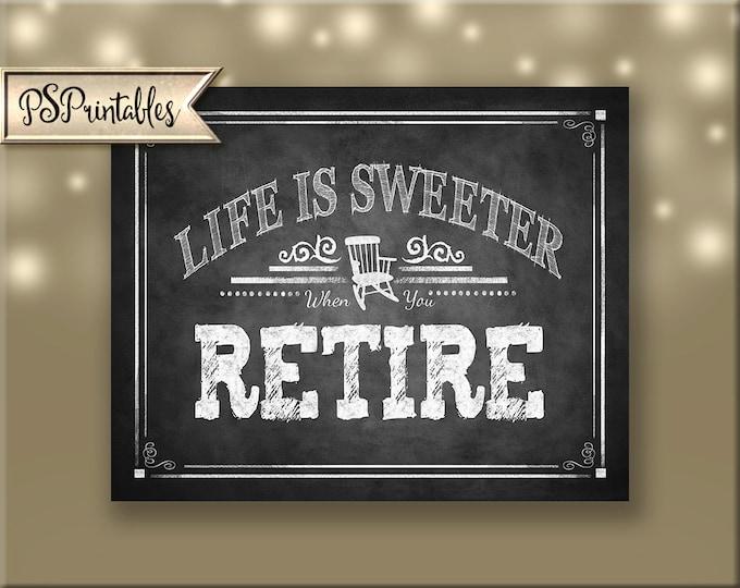 Printable Retirement sign, Retiree Dessert Bar Sign, Retirement Poster, Retirement party decoration, Rockin Retirement Collection