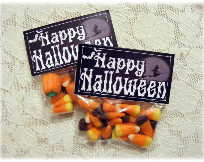 Printable Halloween Favors  | Happy Halloween Candy Toppers