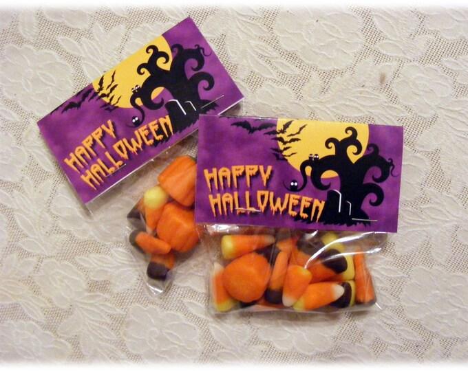 Printable Halloween Candy Treat Bag Toppers | DIY Printable Downloadable Digital File for Halloween Favors