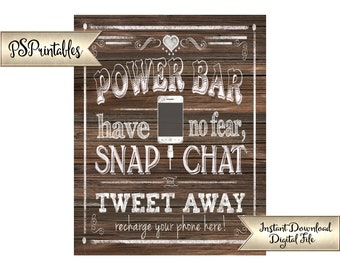 Phone Charging Station Sign | Printable Charging station, Power Bar Sign, Faux Wood Wedding, DIY Wood Printables, Digital Wedding Files