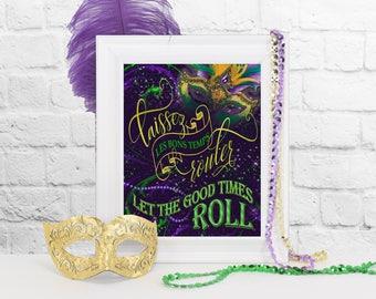 Laissez Les Bons Temps Rouler Sign, Mardi Gras Party Decoration, Mardi Gras Party Decor, Mardi Gras, Mardi Gras Parade, Party Decorations
