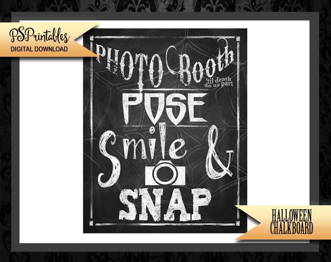 Halloween Wedding Photo Booth - Halloween wedding - halloween photo booth - spooky sign - halloween printable - gothic wedding - photo booth