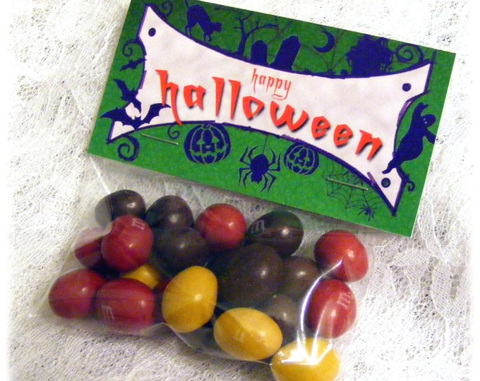 Printable Halloween Favors | Happy Halloween Candy Bag Topper
