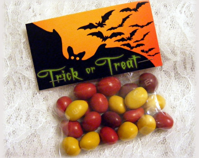 Halloween Party Favors | PRINTABLE Trick or Treat Halloween Candy Bag Toppers