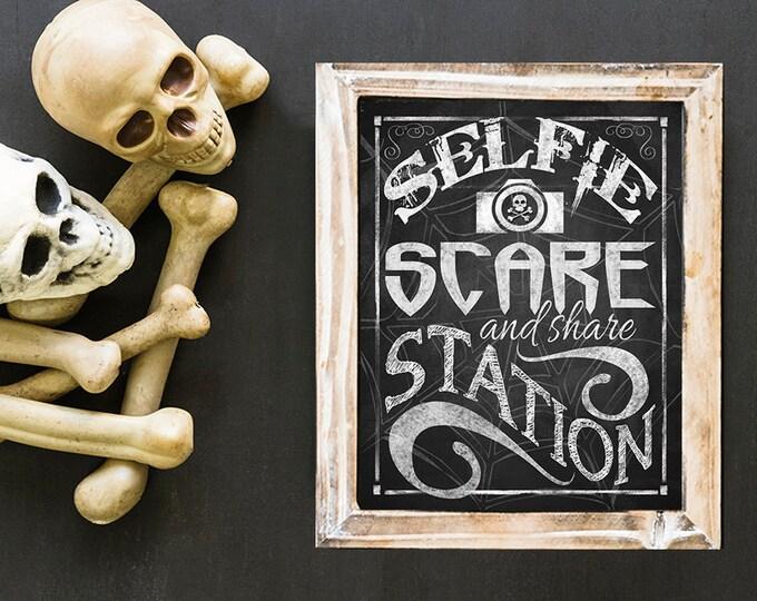 Halloween SELFIE Station, Halloween Party SELFIE Station Sign, Halloween SELFIE digital download, Halloween Party Decor, Halloween Printable