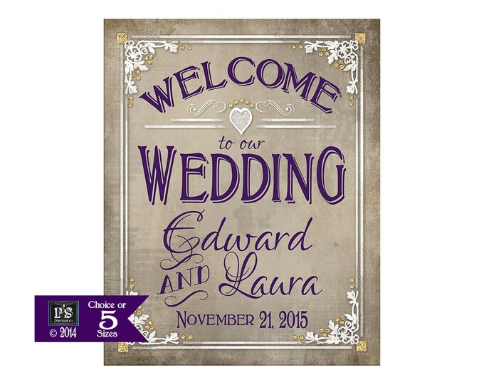 Printable Welcome Sign Poster | Boho wedding | Welcome to our Wedding | Wedding reception sign | Engagement party sign | DIY wedding signs
