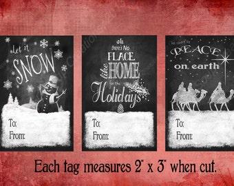 DIY PRINTABLE Christmas Gift tags - perfect for christmas wrapping