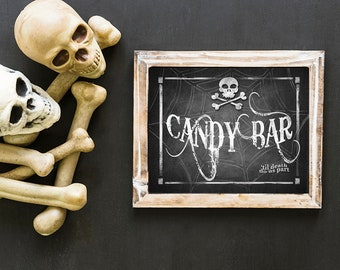 Halloween Wedding Decor, Goth Wedding, PRINTABLE Halloween Wedding Sign, Black Wedding Decor, Halloween Wedding, Candy Bar Sign Sign