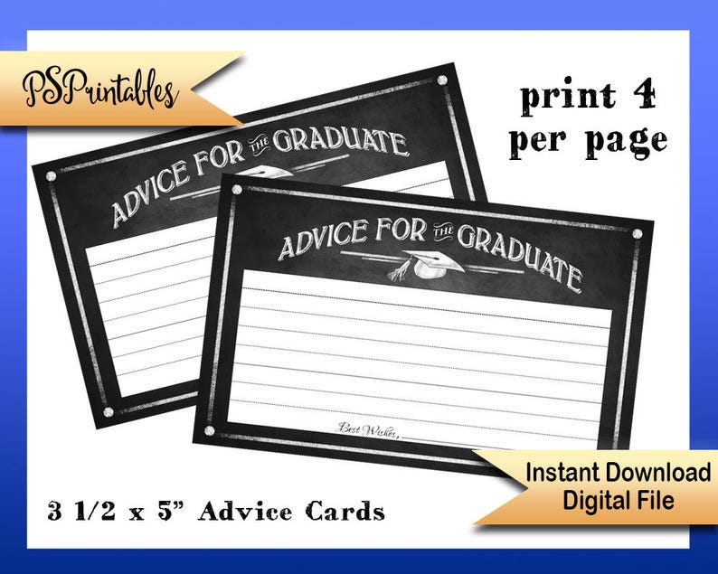 picture about Graduation Printable Cards named Printable Commencement Suggestions Playing cards, suggestions for graduate playing cards, graduate guidance playing cards, Do-it-yourself commencement, chalkboard commencement, printable grad